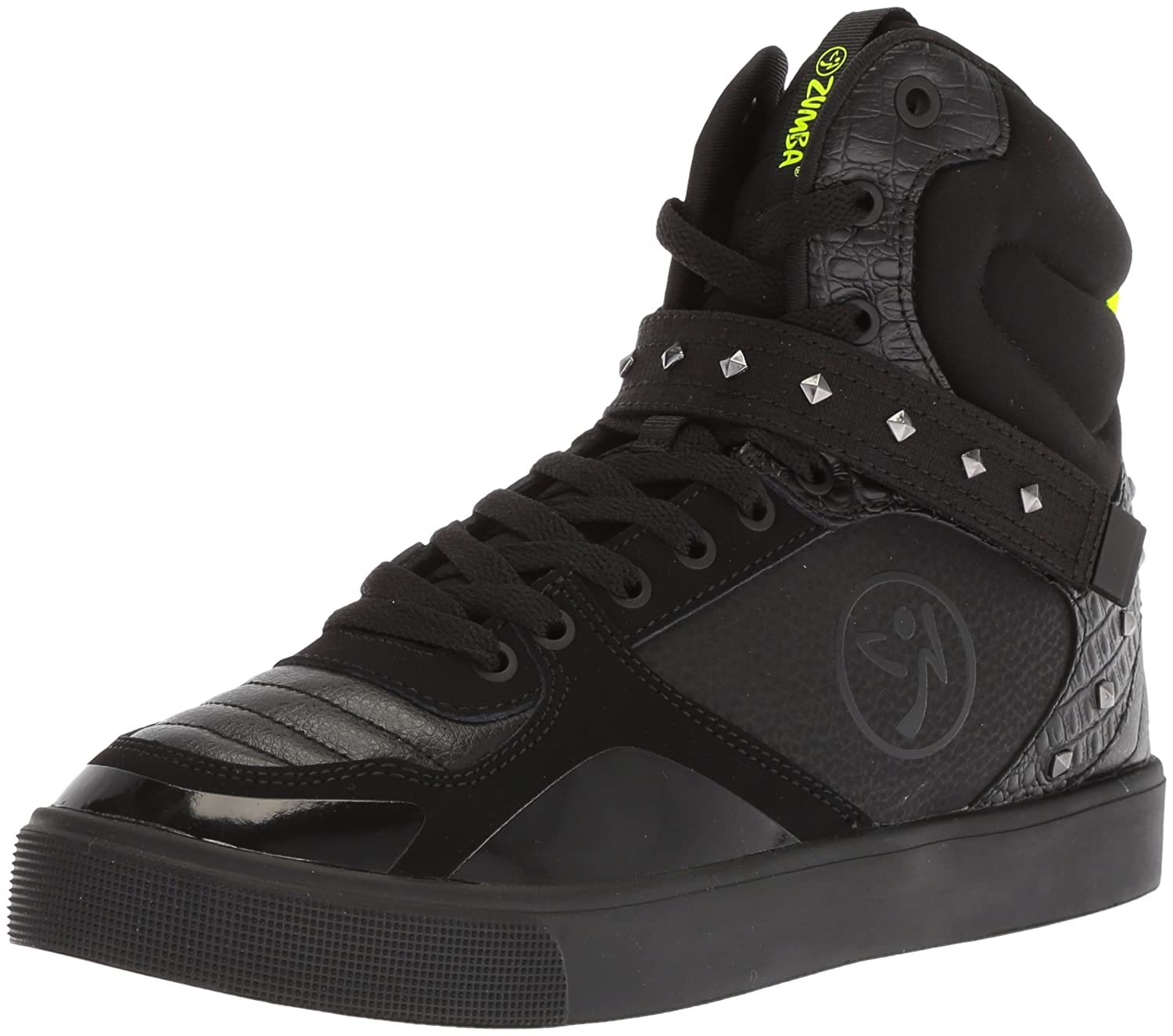 Zumba Women's Street Fashion High Top Dance Workout Sneakers B078WFJ7BN 11 B(M) US|Black Studded