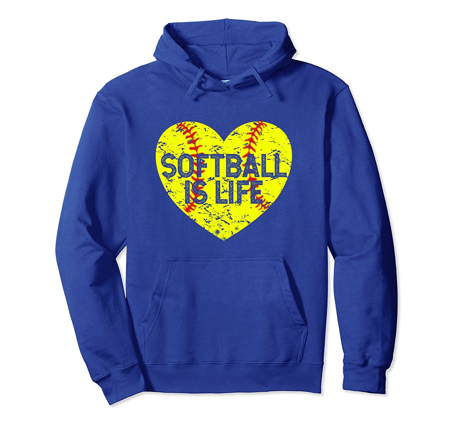 Funny Softball Is Life Girls Fastpitch Player Gift Hoodie-alottee gift