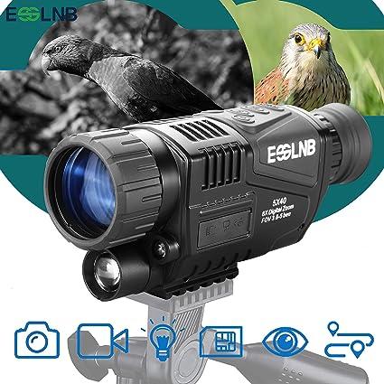 Amazon.com: ESSLNB visión nocturna monocular 5X40 visión ...