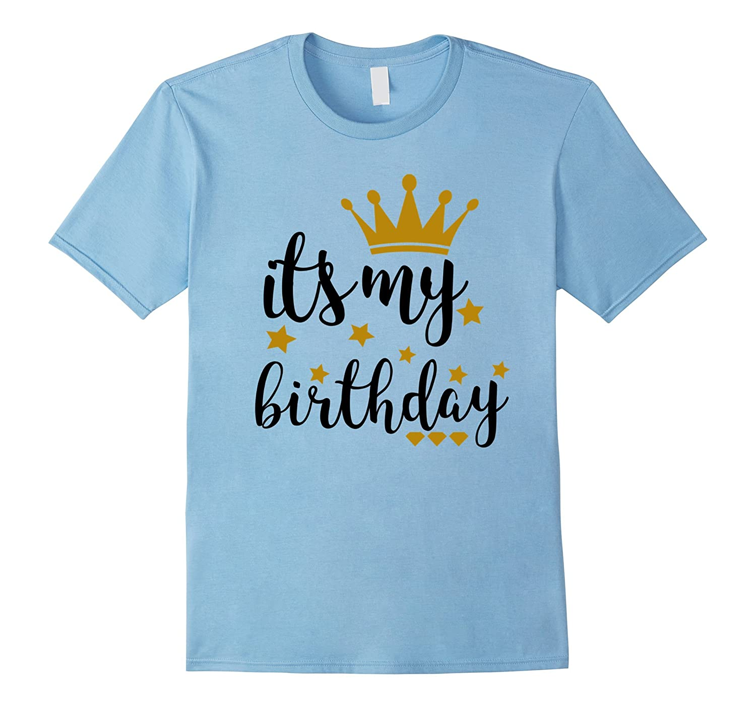 It's My Birthday Shirt for Women, Teens, Girls, Black & Gold-FL