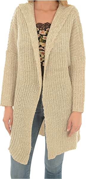 Only Onlpalermo L/S Long Hood Cardigan Knt Chaqueta Punto para Mujer