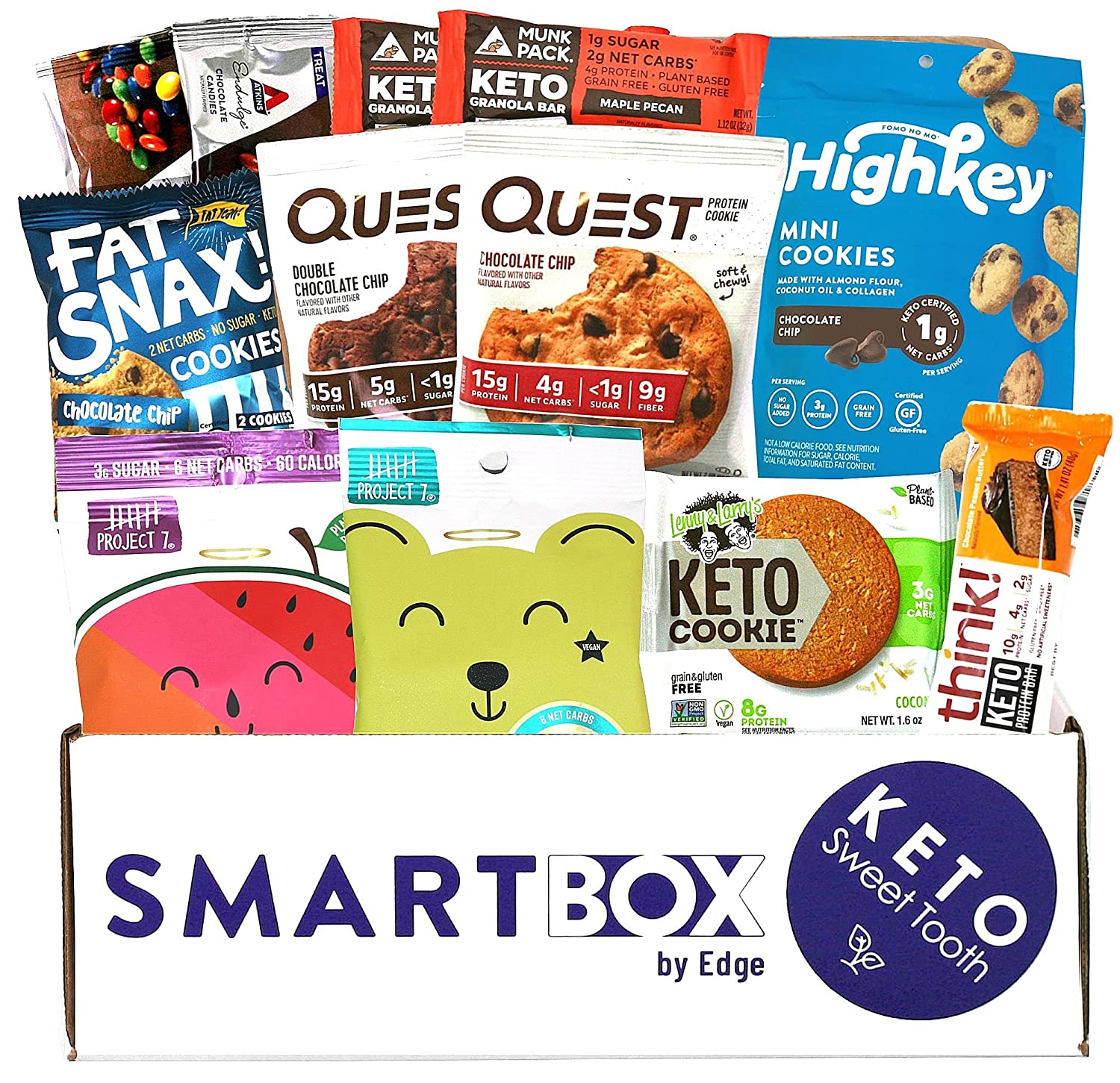 Keto Sweets and Desserts Snack Box and Care Package   Low Carb and Keto Friendly Gift or Snack Set   Packed with Low Carb, Low Glycemic Snacks!