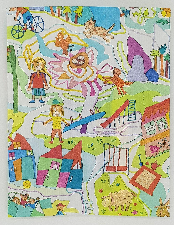 Klebepunkte und Geschenkverpackung Geburtstag Kinderzimmer Buchstaben Taufe Mitbringsel Junge 3er Set Geburt M/ädchen Geschenk Haba Holzbuchstaben im Set inkl