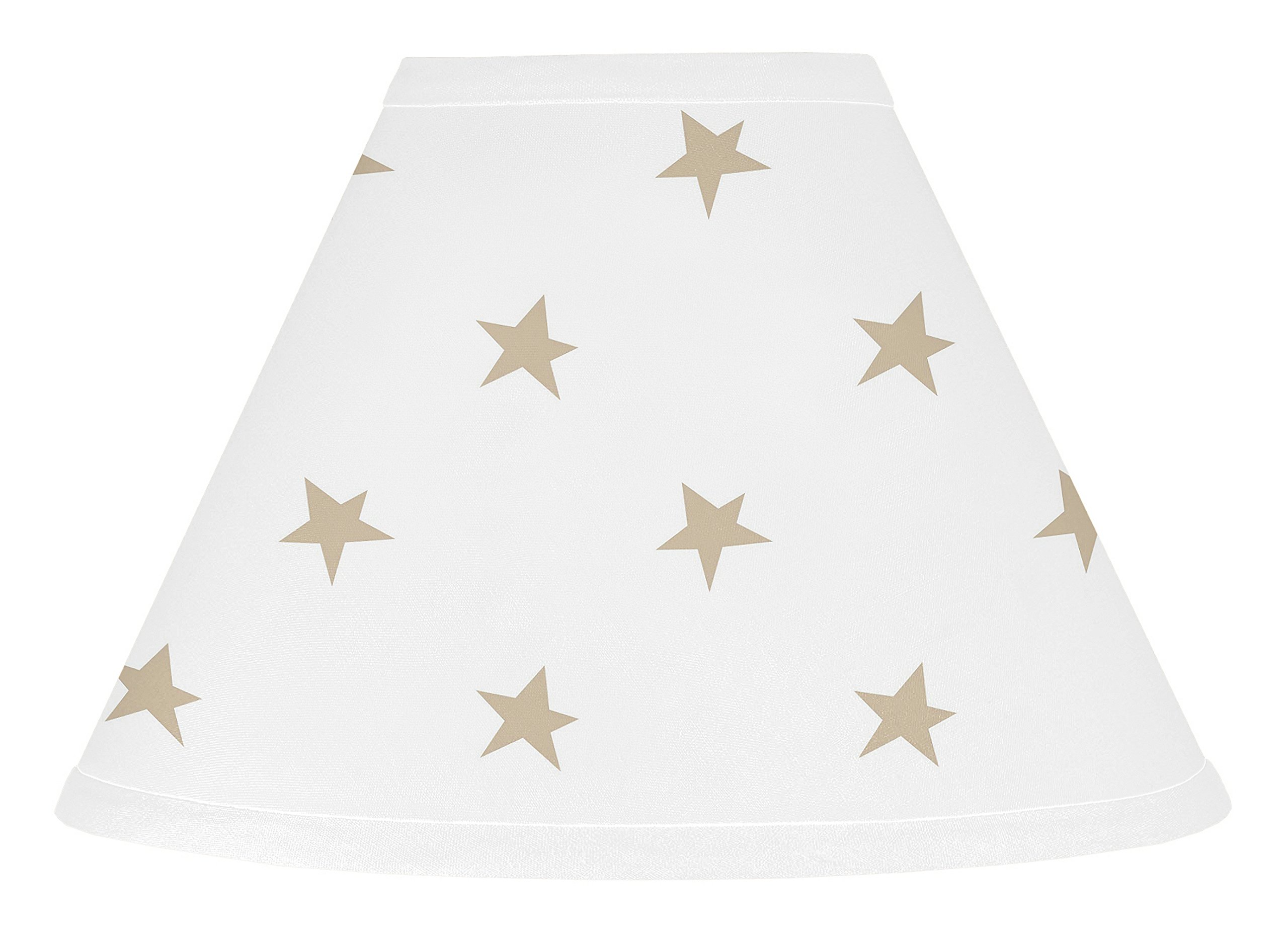 Sweet Jojo Designs Gold and White Star Lamp Shade for Celestial Collection by