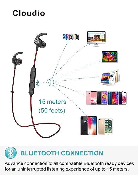 Amazoncom Cloudio S Bluetooth Sports InEar Headphones Best - Faience cuisine et tapis de sol clio 3 estate