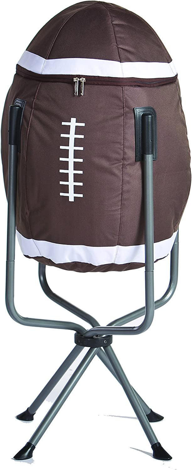 Large Insulated Football Shaped Tub Cooler for Tailgating By Picnic Plus
