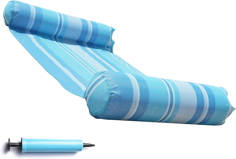 Amazon.com: Hamaca flotadora, portátil para piscina ...