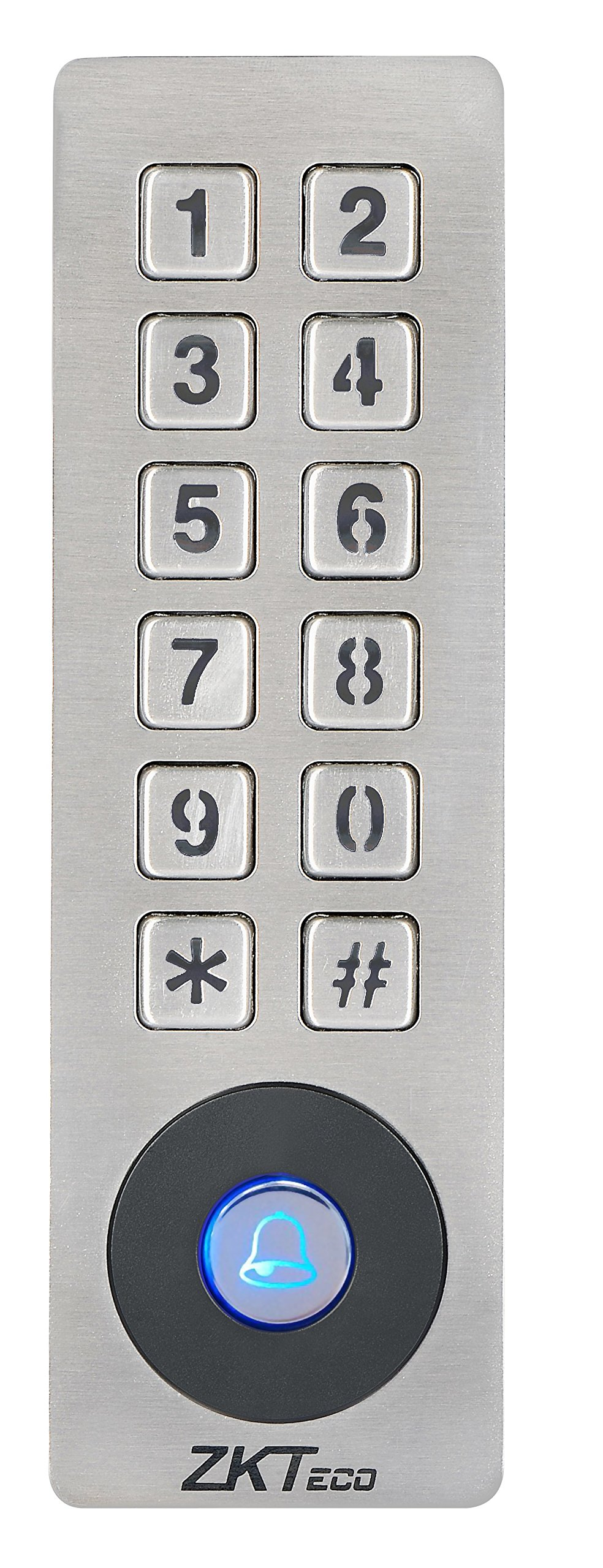 ZKTeco Waterproof Access Control Keypad 125KHz RFID Door Access Controller Home Security System with Metal Shell and Keypad
