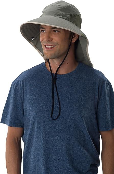 Navy with Silver Trim 100 SPF, UPF 50+ Sun Protection Zone Unisex Lightweight Adjustable Outdoor Floppy Sun Hat