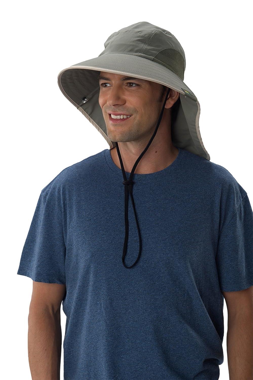 3964c5e0d29d1 Amazon.com  Sun Protection Zone Unisex Lightweight Adjustable Outdoor  Floppy Sun Hat (100 SPF
