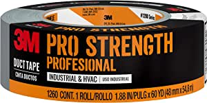 3M Pro Strength Duct Tape Industrial & HVAC, 1.88 inches x 60 yards, 1260-A, 1 roll,Grey