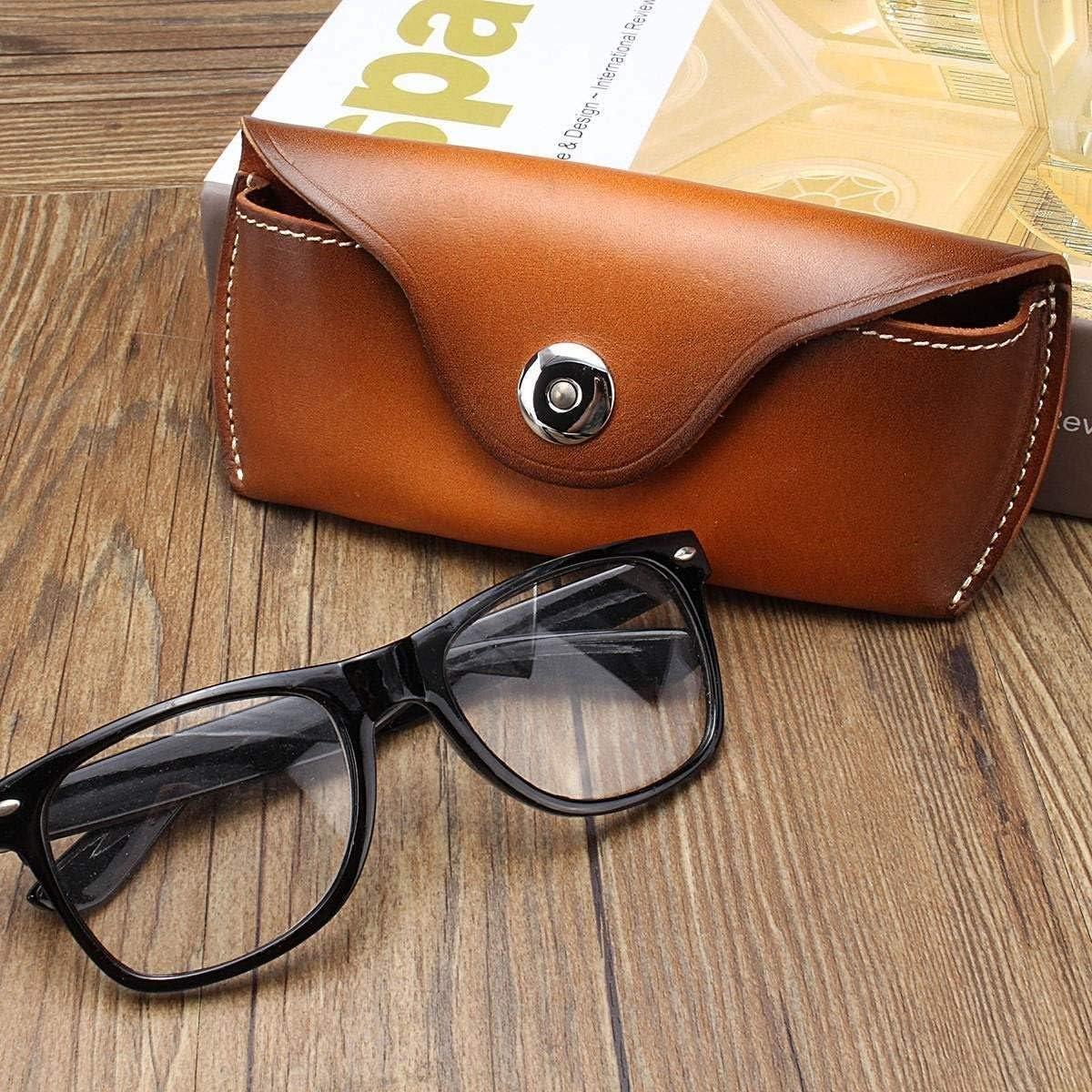 Color : Black ZRDY Echtes Leder Brillen Tasche for Brillen Handgemachte Kausale Jeans G/ürtel Brillenetui Sonnenbrille Schutzh/ülle