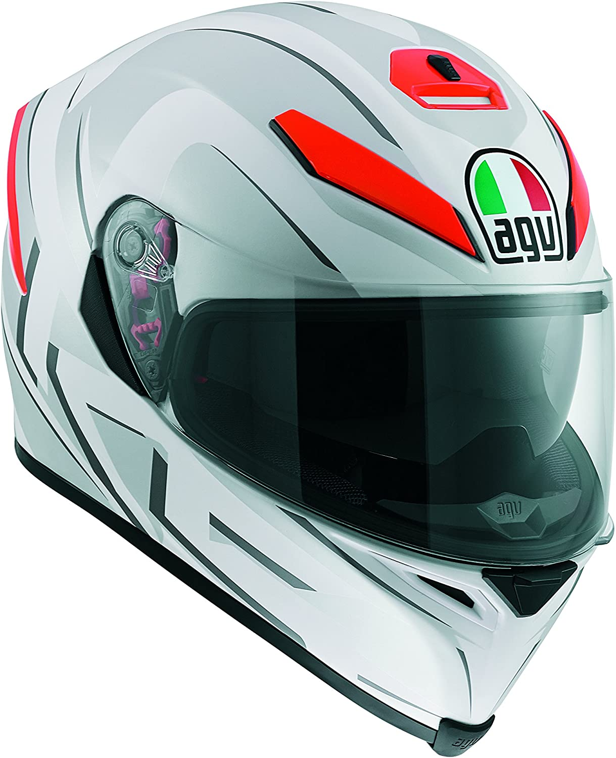 CASCO MOTO INTEGRALE AGV K-5 HURRICANE BLACK//RED HELMET TAGLIA XL 0041A2F0-011-1