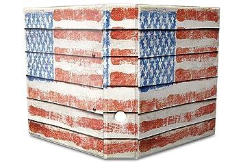 Archivador A4 Carpeta 2 anillas 60mm impreso Vintage bandera Estados Unidos: Amazon.es: Hogar