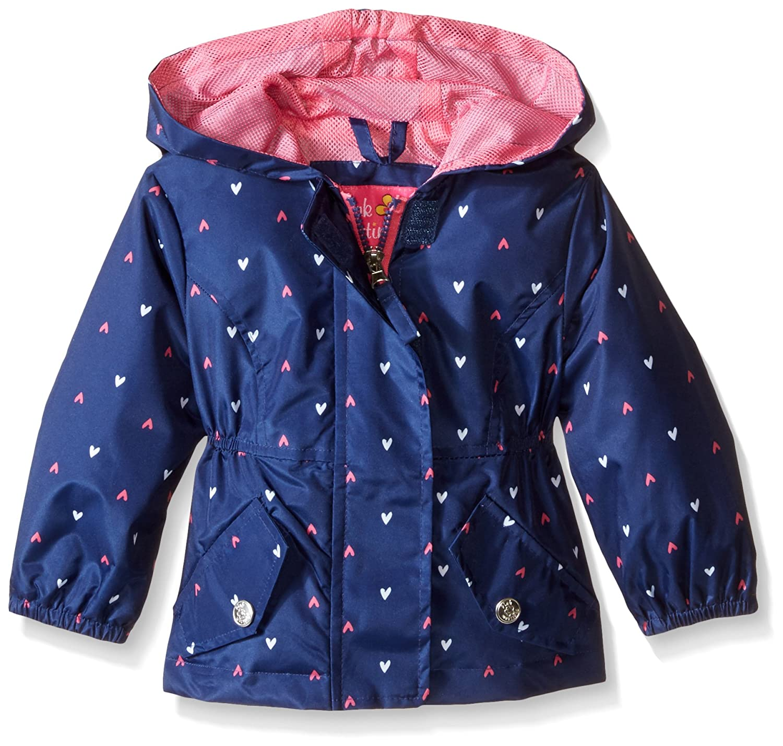 Pink Platinum Baby Girls' Heart Print Anorak Navy 12 Months PP662176