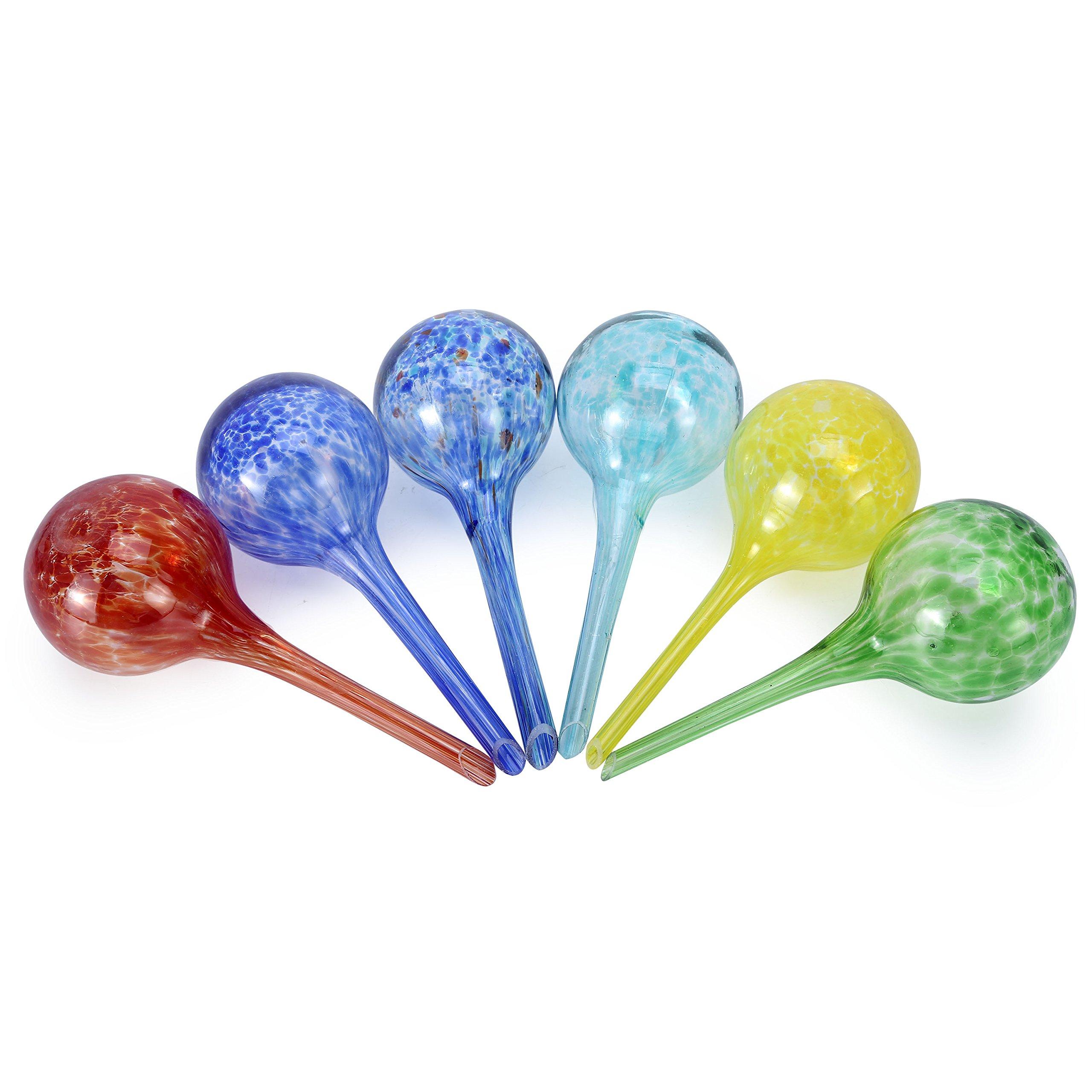 Asvert Self Watering Globes Mini Glass Plant Waterer Decorative Watering Bulb 6 Pack by Asvert