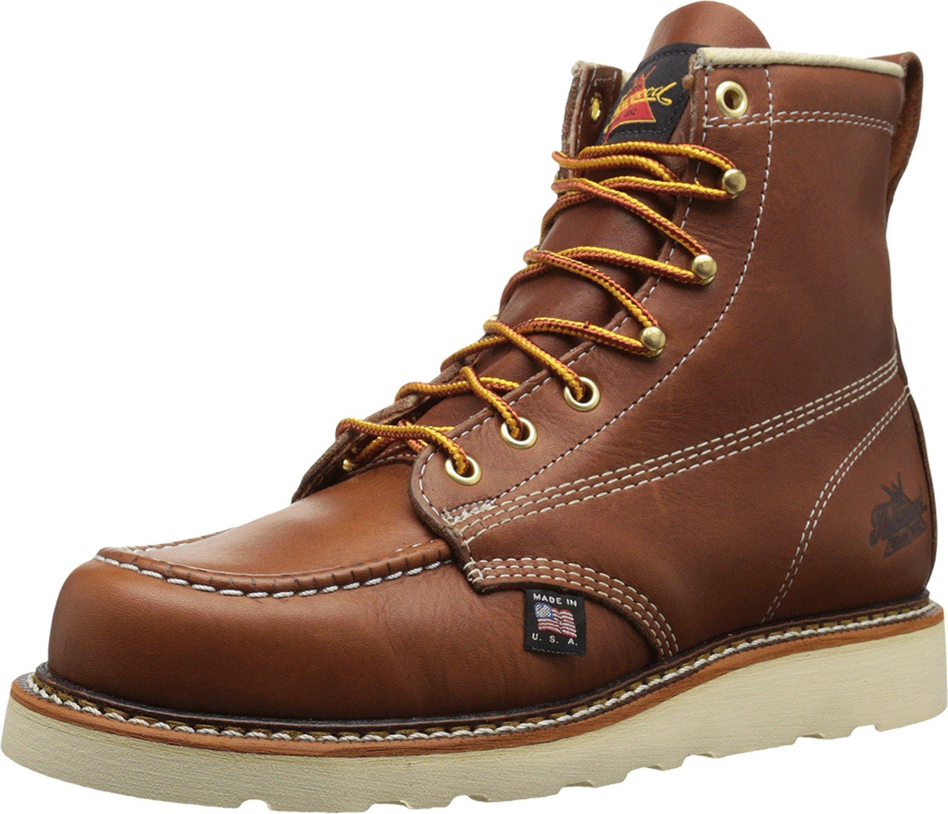 Thorogood 814-4200 American Heritage 6'' Moc Toe Boot, Tobacco, 11 D US
