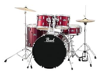 Amazon Com Pearl Drum Set Red Wine 5 Piece Rs525sc C91 Musical
