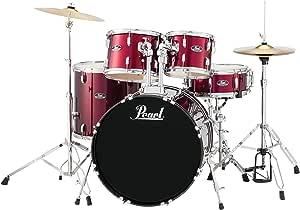 Pearl Roadshow 5-Piece Drum Set, Red Wine (RS525SC/C91)