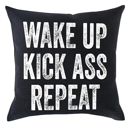 Brecoy Life Mood Frases Wake up Kick Ass Repetir Algodón ...