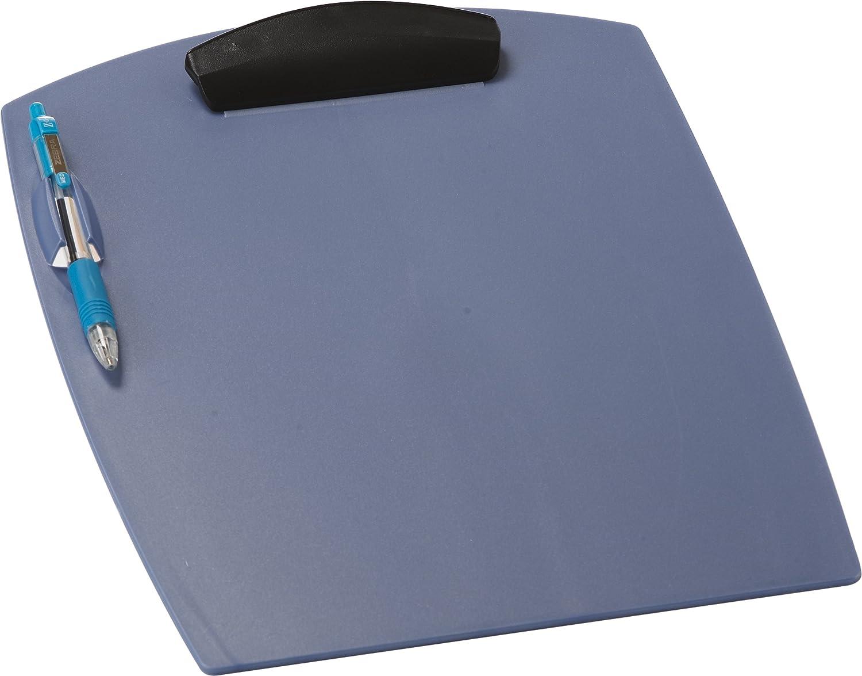 Case of 12 10.25 x .88 x 12.74 Inches Storex Deluxe Clipboard Pearl Blue STX41101U12C