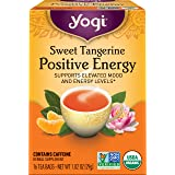 Yogi Tea - Sweet Tangerine Positive Energy (4 Pack) - Supports Elevated Mood and Energy Levels - 64 Tea Bags