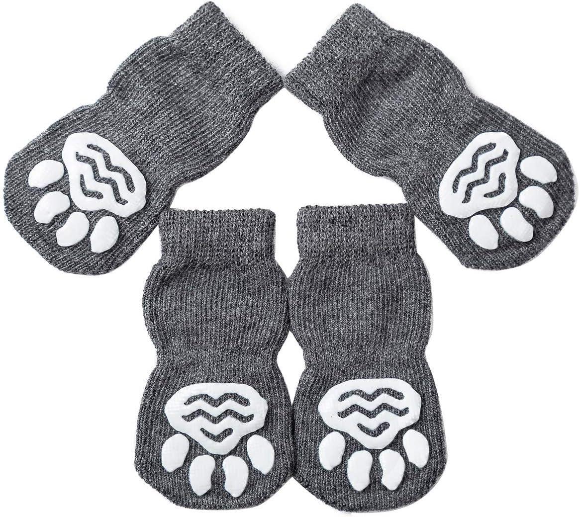 akopawon pcs anti slip pet dog cat sockspaw protectortraction control indoor wear