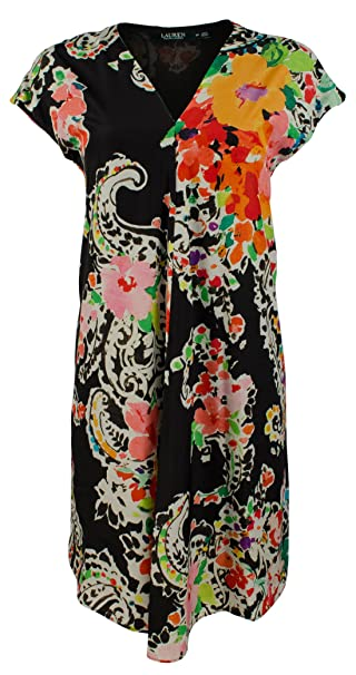LAUREN RALPH LAUREN Women\'s Plus Size Floral Print Dress at ...