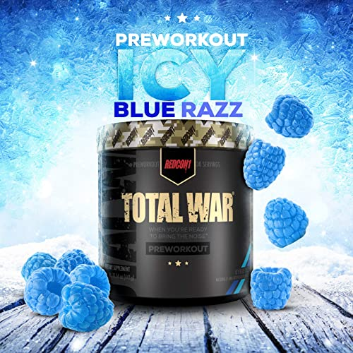 Redcon1 Total War – Pre Workout, 30 Servings, Boost Energy, Increase Endurance and Focus, Beta-Alanine- NutritionBizz Exclusive Flavor