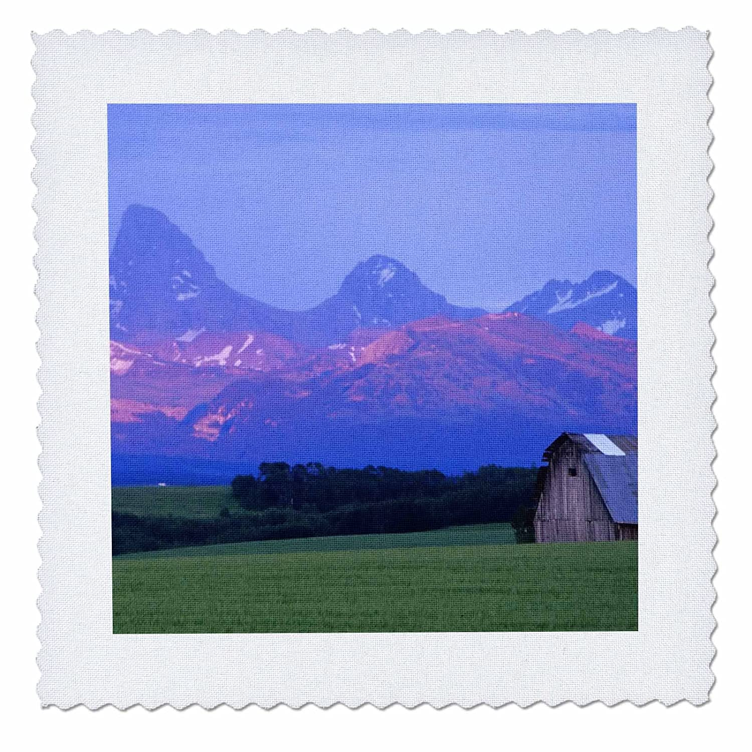 Wheat Field 3dRose qs/_89967/_6 Rustic Barn 16 by 16-Inch Idaho US13 CHA0079 Chuck Haney Quilt Square Teton Mountain Range