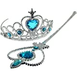 Fun Daisy Snow Queen Girls Crown and Magic Wand - Crown and Wand Set