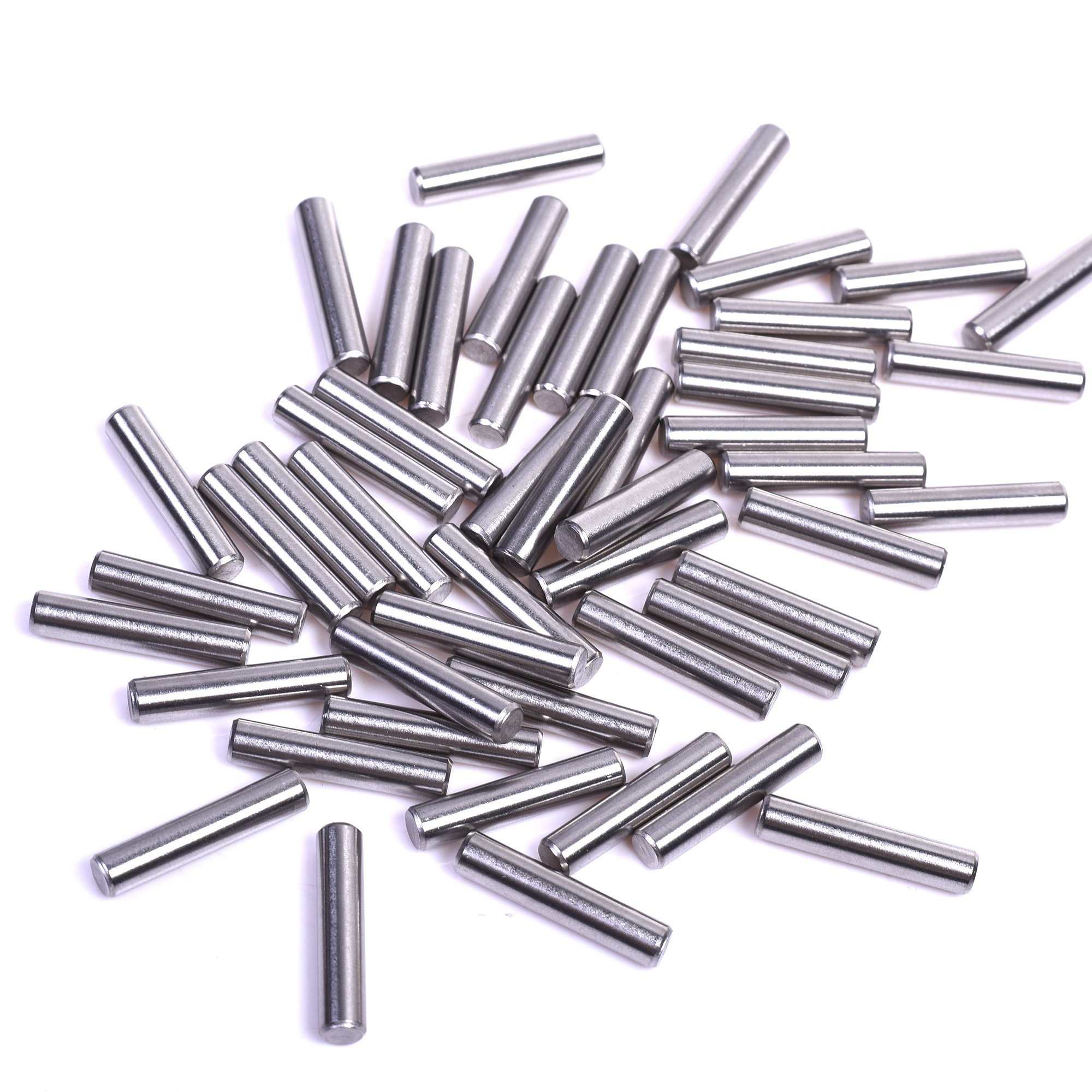 BCP 100 Pieces 5 mm x 24 mm Dowel Pin Stainless Steel Shelf Support Pin Fasten Elements