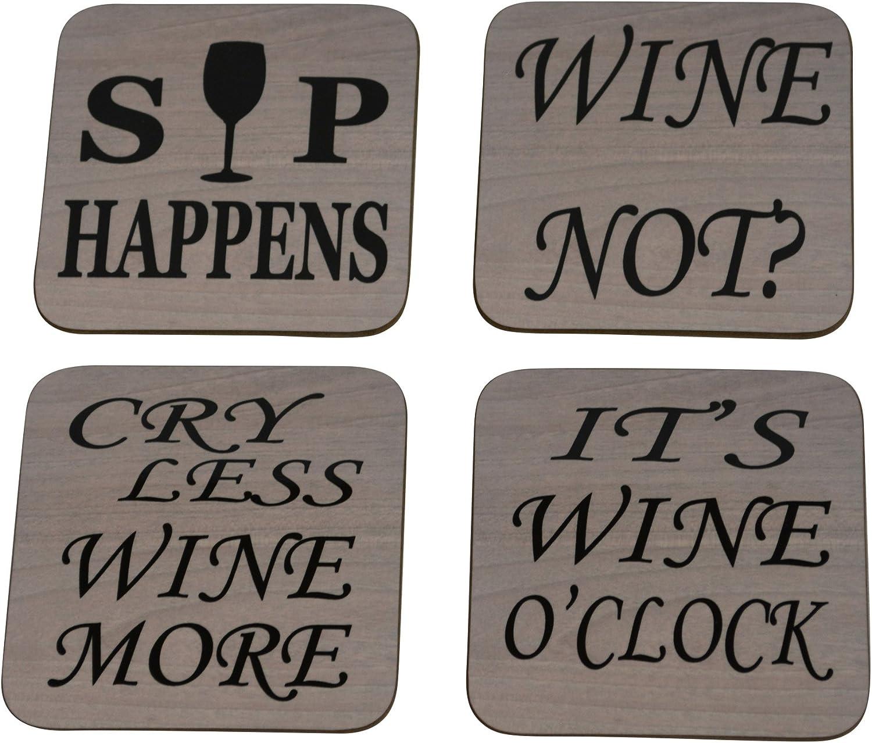 Travertine Coasters Wine Cafe Decor Wine Drinker Gift Stone Drink Coaster Wine Coasters Winery Decor Coasters Set Wine Table Decor