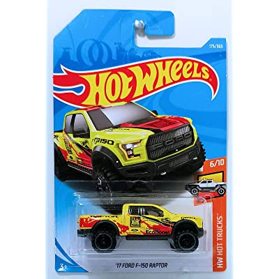 Hot Wheels 2020 50th Anniversary HW Hot Trucks '17 Ford F-150 Raptor 175/365, Yellow: Toys & Games