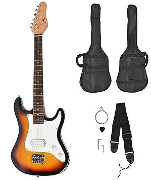 ts-ideen - Guitarra eléctrica sunburst infantil de 3/4 (6-12 anos, funda y cuerdas): Amazon.es: Hogar