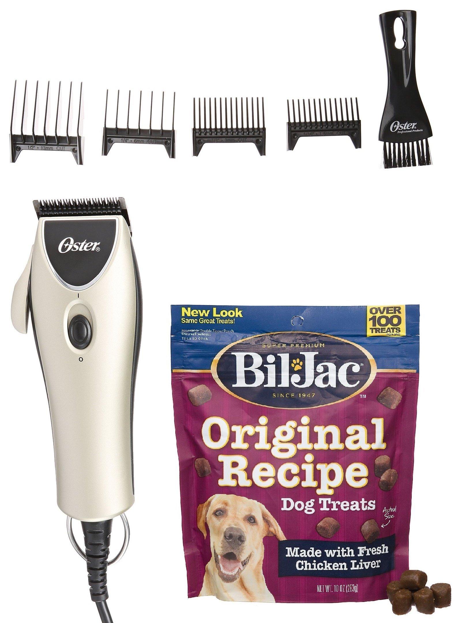 Oster Performance Grooming Kit - Includes Bil-Jac Original Recipe Dog Treats 10oz
