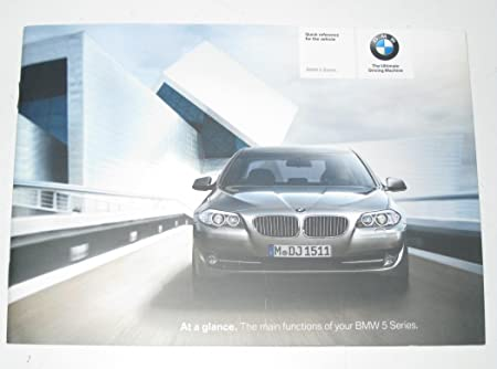 Bmw F10 F11 Quick Reference Handbook Manual 2606022 01402606022 Auto
