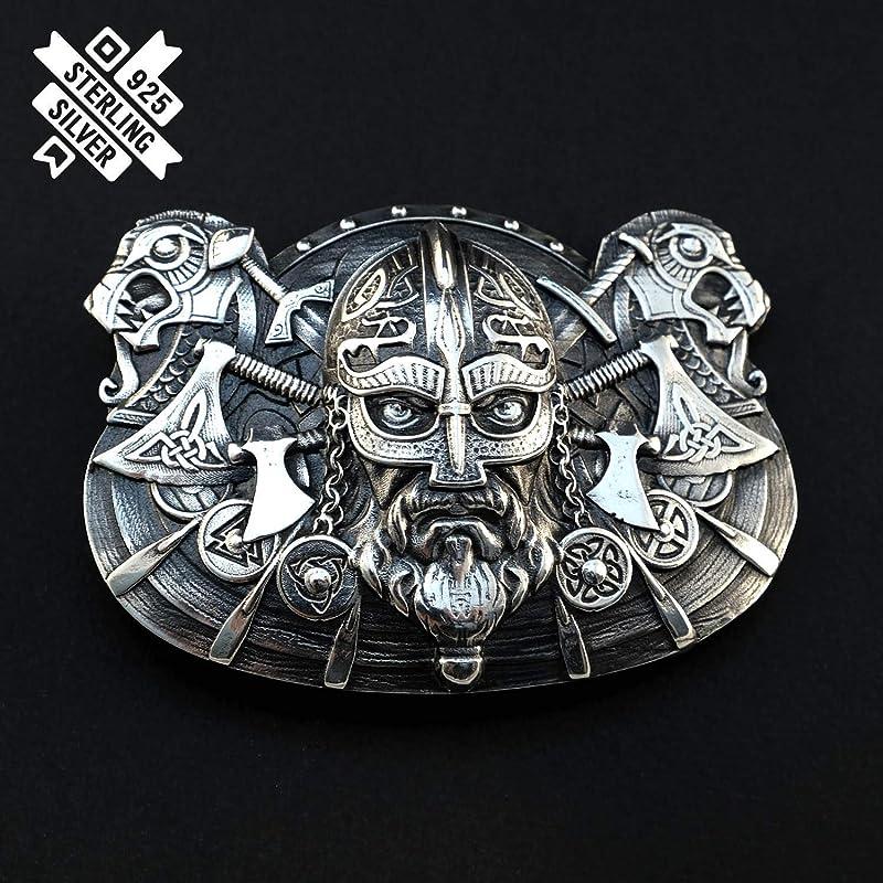 Mens Celtic Nordic Viking Warrior Outlas Biker Cowboy Punk Fashion Belt Buckle