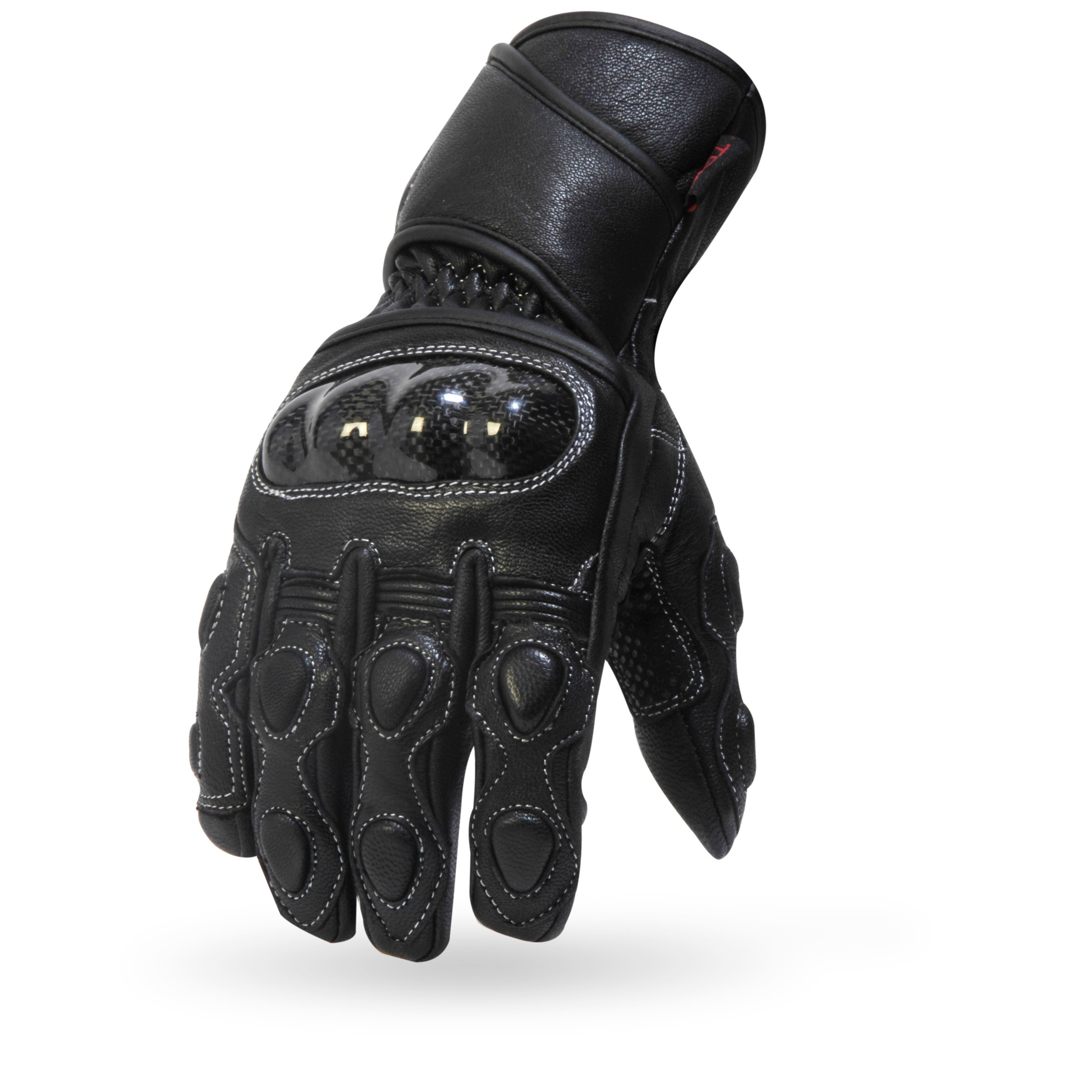 TORC Mens Classic Workman Street Motorcycle Gloves (Malibu Black-XLarge)