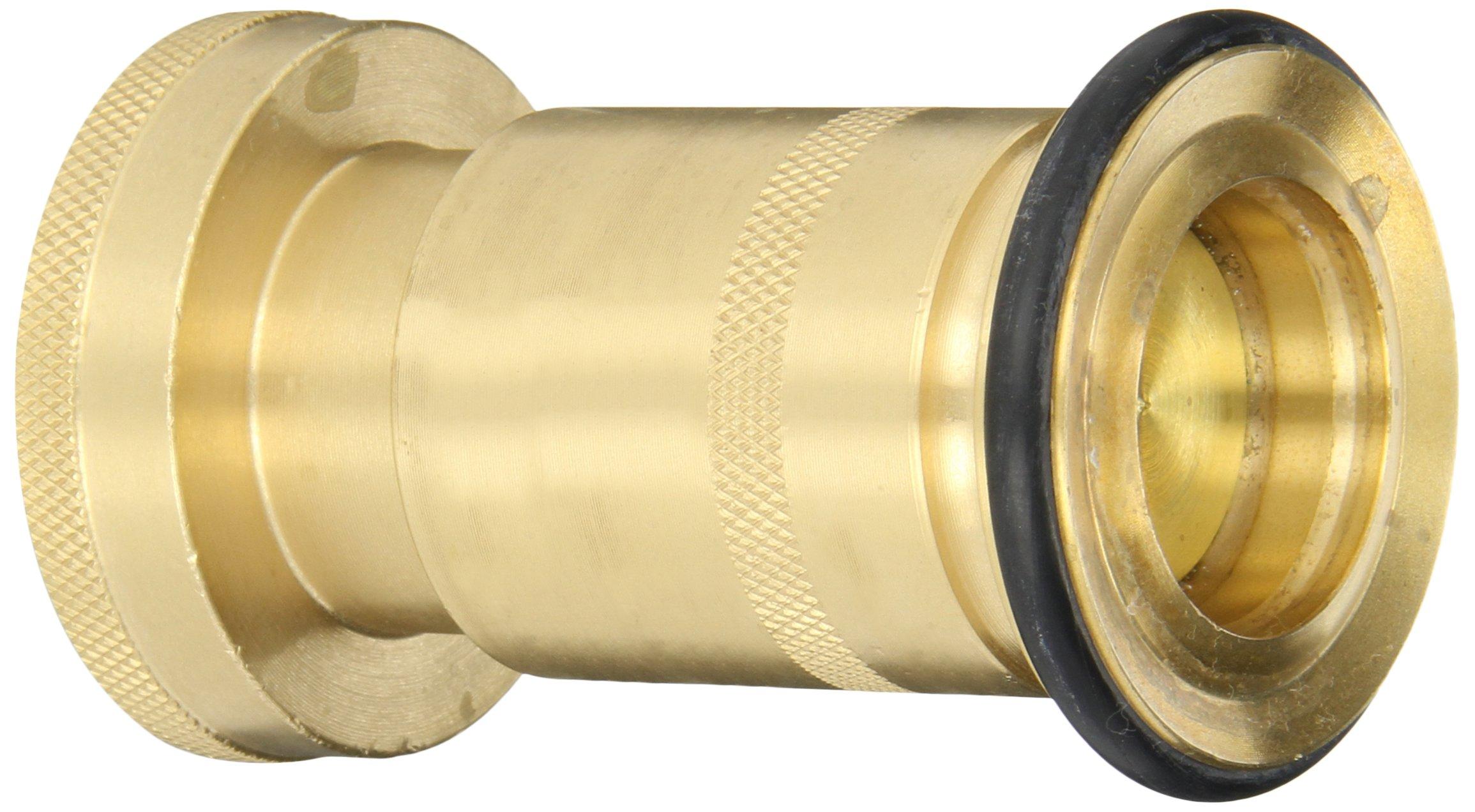 Dixon Valve BFN150NST Brass Fire Equipment, Industrial Fog Nozzle, 1-1/2'' NST (NH) Female, 100 psi Pressure