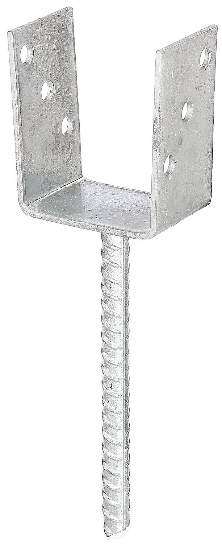 GAH-Alberts - Reggi palo a U con ancora di cemento, zincato a caldo Larghezza: 101 mm 214289