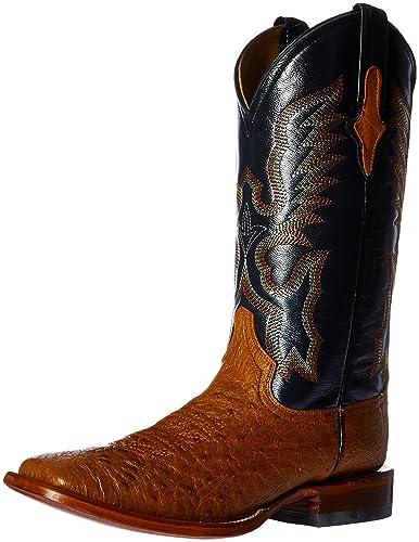 470ba9d2344 Ferrini Men's Smooth Ostrich Square Toe Cognac Western Boot