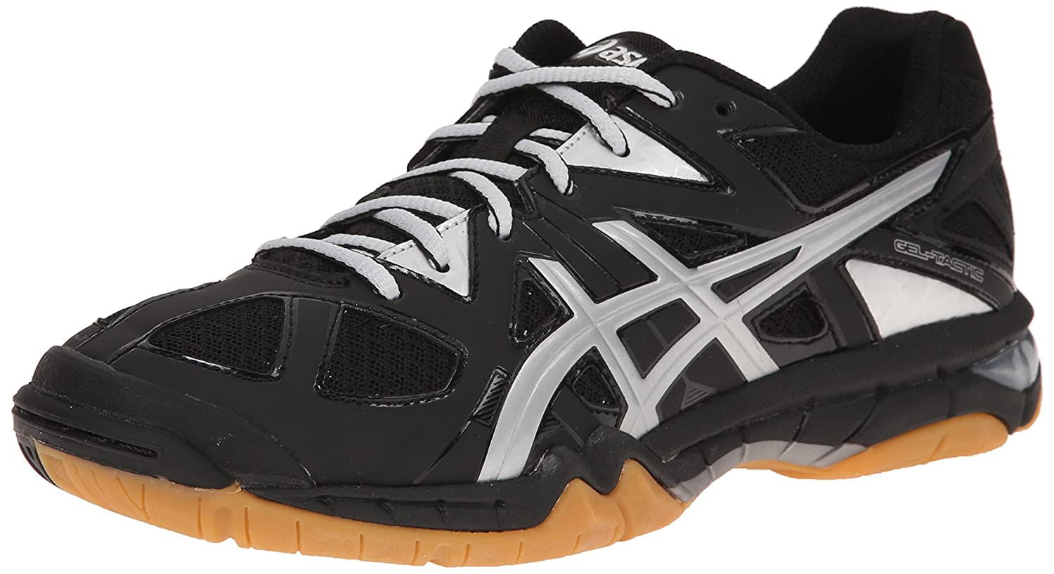 ASICS Women's Gel Tactic Volleyball Shoe B00Q2JNFKK 6 B(M) US|Black/Silver