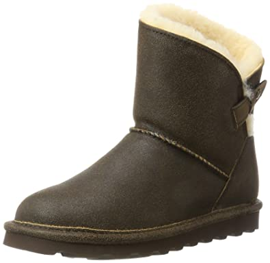 BEARPAW Women's Margaery Fashion Boot, Chestnut Distressed, ...
