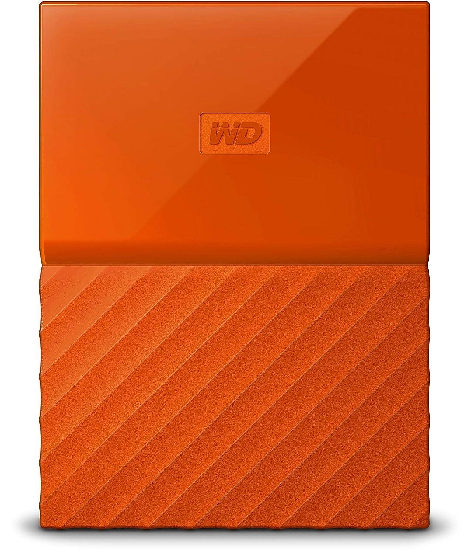 WD My Passport 4TB Portable External Hard Drive (Orange)