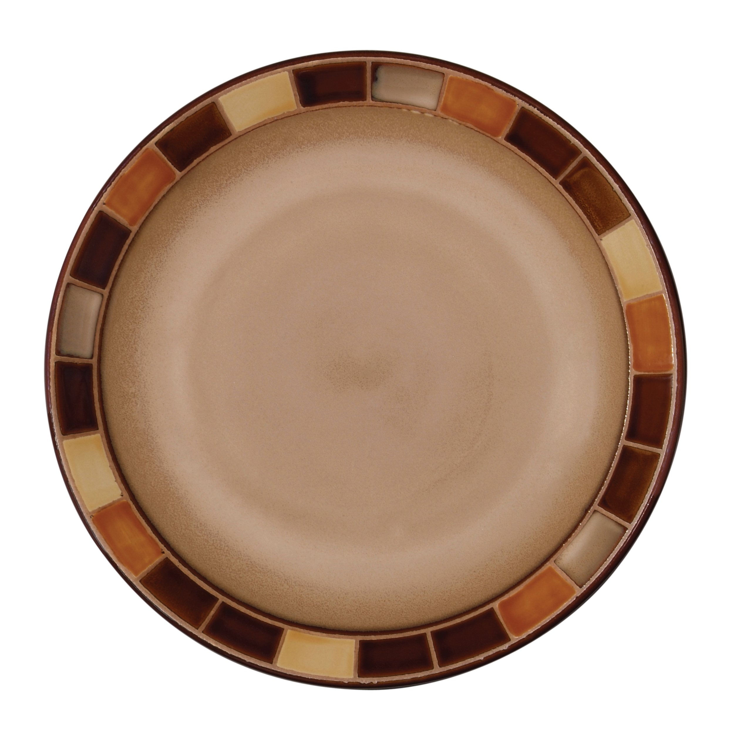 Gibson 70736.16RM Casa Estebana 16-piece Dinnerware Set Service for 4, Beige and Brown by Gibson (Image #5)