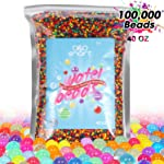 Water Beads 2.5lb (100,000 Beads), Non-Toxic Jelly beads for kids Summer