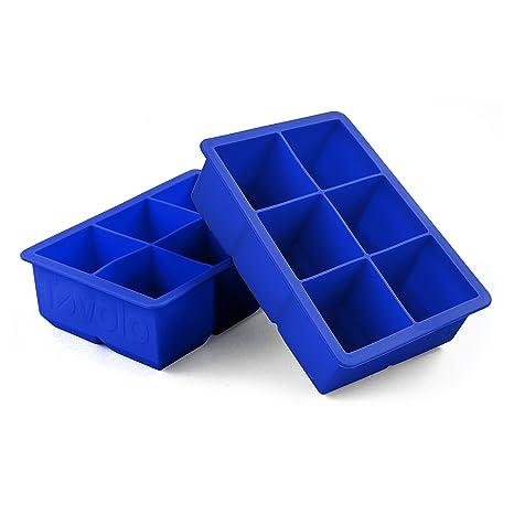 Stratus Blue Tovolo Perfect Cube Silicone Ice Trays Set of 2