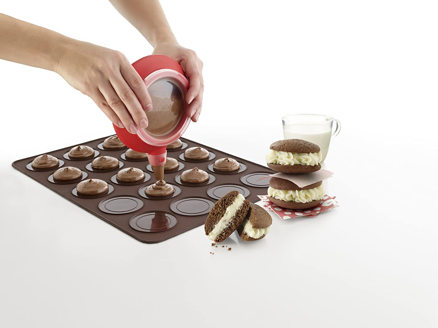 Lékué Whoopie Pie Kit with Decomax and Mat, Brown 3000002SURM017
