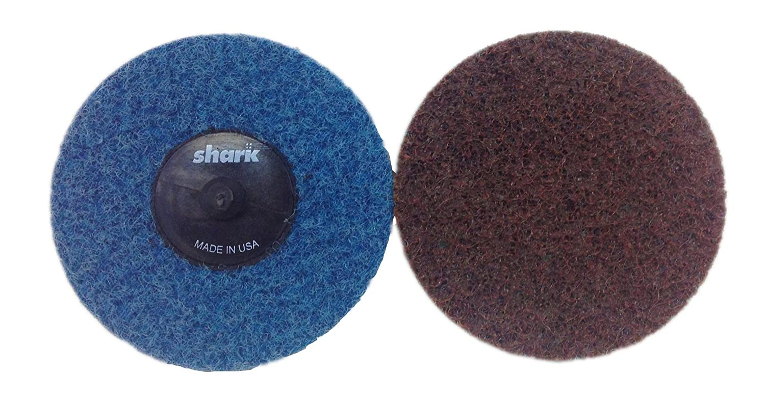 50-Pack Brown Grit-Extra Coarse Shark Shark 631TB-50 3-Inch Surface Preperation Discs